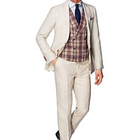 Suit Light Brown Plain Havana P3850 | Suitsupply Online Store