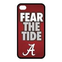 NCAA Alabama Crimson Tide Team Logo for iPhone4 or 4s Best Rubber Cover Case at Color Your Dream Mall