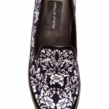 Mother of Pearl kennedy canvas slip ons navy floral