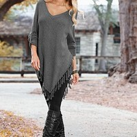 Fringe sweater poncho from VENUS