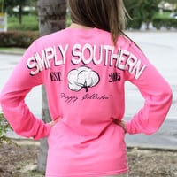 Simply Southern Long Sleeve - Pink Cotton