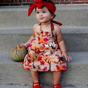 Baby girl fall dress, baby girl fall outfit, baby girl thanksgiving outfit, baby girl autumn dress, toddler fall dress, toddler fall outfit