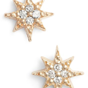 Anzie Mini Starburst Diamond Earrings | Nordstrom