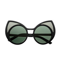 Funky Extra Large Cute Womens Oversized Cat Eye Sunglasses C1600