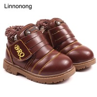 2017 New Winter Keep Warm Snow Boots Kids Boys Girls Antislip Ankle Boots Fashion Thicken Cow Muscle Boots Size 21-30
