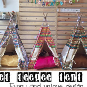 Pet Teepee Tent - Boho Chic