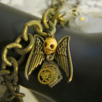 Steampunk Angel Charm Bracelet