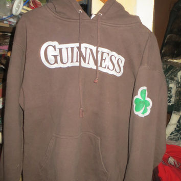 vtg 1990   original Guinness beer  brown hoodie size xlarge