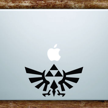 Triforce Zelda Logo Laptop Decal Sticker Vinyl Art Quote Macbook Apple Decor Game Gamer