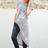 Stone Washed High Low Tee