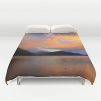 Sunset Duvet Cover by Haroulita | Society6