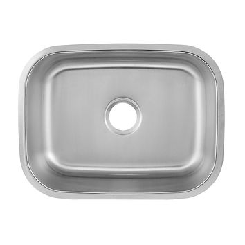 DAX-2317 / DAX SINGLE BOWL UNDERMOUNT KITCHEN SINK, 18 GAUGE STAINLESS STEEL, BRUSHED FINISH