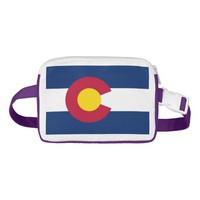 Patriotic Fanny Pack with Flag of Colorado, USA.