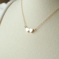The Best Friend Necklace - On 14K gold filled chain - simple everyday delicate jewelry