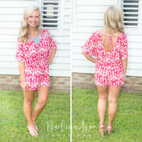Red Stamp Romper