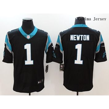 Danny Online Nike NFL Jersey Men's Vapor Untouchable Color Rush Carolina Panthers #1 Cam Newton Football Jersey BLack