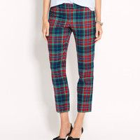 Holiday Tartan Cocktail Ankle Pants