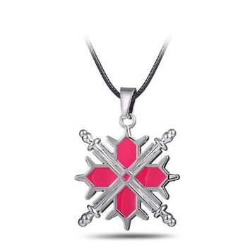 Vampire Knight Pink Metal Anime Necklace