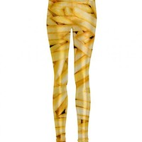 Ladies Shiny French Fries All Over Print Leggings From Mr Gugu & Miss Go : TruffleShuffle.com