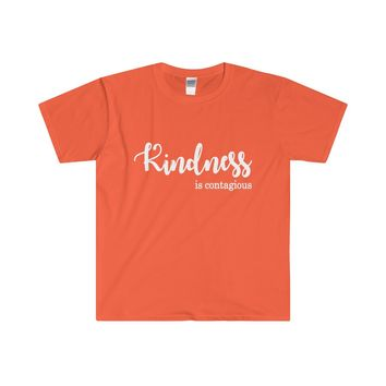 kindness is contagious t shirt for women