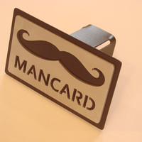 Mancard Aluminum and Steel Trailer Hitch Cover