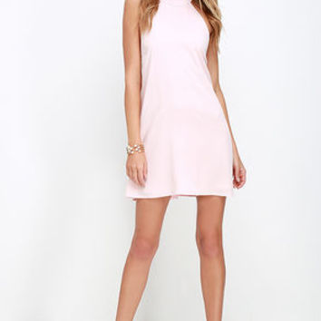 I Need a Hero Light Pink Halter Dress