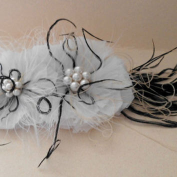 Bridal Hair Piece Bridal Fascinator Wedding by parfaitplumes