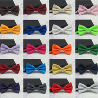 Men's Fashion Tuxedo Classic Mixed Solid Color Butterfly Wedding Party Bowtie Bow Tie Pre Tied