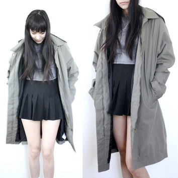 Long Army Green Coat Unisex