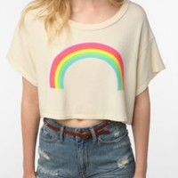 Wildfox Rainbow Crop Tee