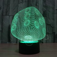 JC-2847 Amazing 3D Illusion led Table Lamp Night Light with  dice shape