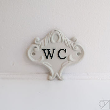 Cast Iron Water Closet Sign