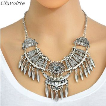 Women Maxi Collier Boho Necklace Fashion Jewelry Choker Collar Statement Necklace