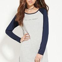 Are You Happy Nightdress | Forever 21 - 2000186543