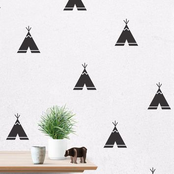Cartoon Teepee Wall Decals, Removable, 40 pcs per lot