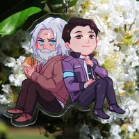Detective Duo - Hank & Connor Charms by Yuki119