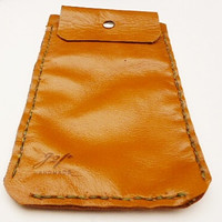 Whisky brown Tan Leather i phone 6 plus case sleeve