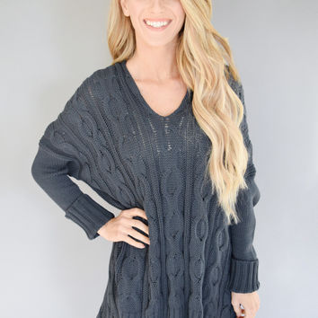Whistler Cable Knit Sweater Dark Teal