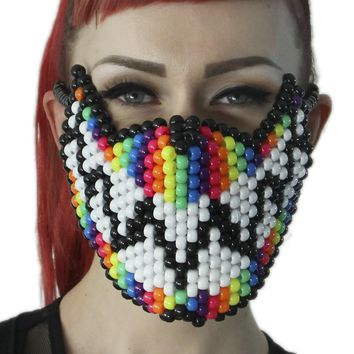 Rainbow Feed Me Full Kandi Mask