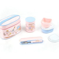 Little Twin Stars Lunch Container Set in Bag: Music