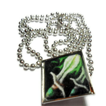 Warcraft Rogue Necklace on ball chain - video game jewelry - free size adjustments