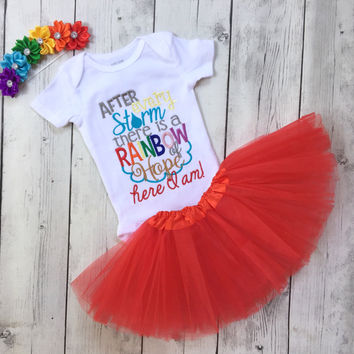 Rainbow baby outfit for girls - rainbow baby headband - miracle baby Onesuit - angel baby - for this child i have prayed - miracle child