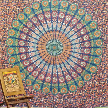 Mandala Tapestries, Tapestry Wall Hanging, Hippie Tapestries,Indian bed spread Wall Tapestries, Hippie Dorm Tapestry, Bohemian Tapestries