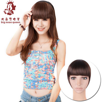 Hot New Women Fashion 5 colors Headband Fringe Bangs Clip Wig/Hair/Hairpieces Extensions Human Fake Hair Synthetic Styling Tools