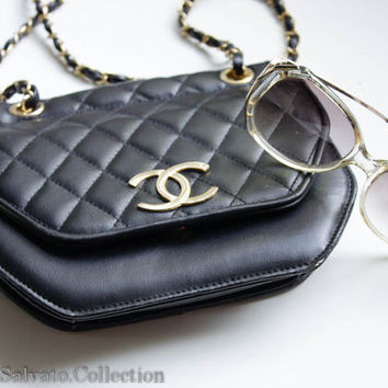 Designer Inspired Chanel CC Black Quilted Purse