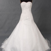 A - Line Chapel Train Satin / Tulle Wedding Dress