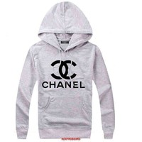 '' CHANEL '' Hooded Top Sweater Hoodie