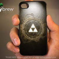 Zelda iPhone 4 4s Hard Case - Legend of Zelda Triforce Art  - Phone Cover