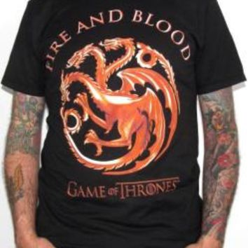 Game Of Thrones T-Shirt - Gold Stamp