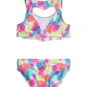 Heart Back Flounce Bikini Swimsuit | Girls {category} {parent_category} | Shop Justice